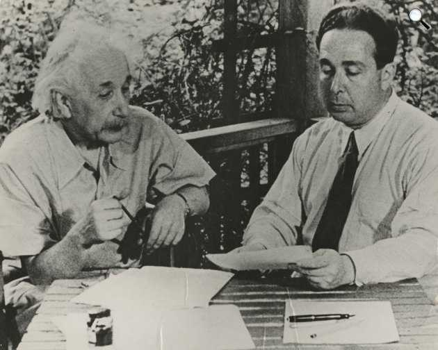 Szilárd Leó és Albert Einstein